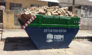 locação de caçamba de entulho - RBM